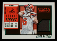 Baker Mayfield 2018 Panini Contenders Rookie Ticket Swatches Variation #1 at PristineAuction.com