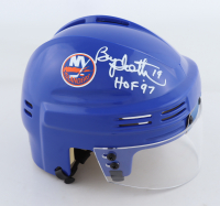 "Bryan Trottier Signed Islanders Mini Helmet Inscribed ""HOF 97"" (Schwartz Sports COA) at PristineAuction.com"