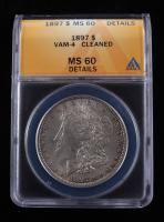 1897 Morgan Silver Dollar, VAM-4 (ANACS MS60 Details) at PristineAuction.com