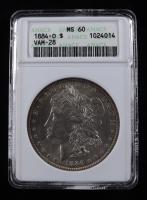 1884-O Morgan Silver Dollar, VAM-28 (ANACS MS60) at PristineAuction.com