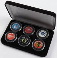 """The Original Six"" NHL Hockey Teams Set of (6) Colorized Quarters at PristineAuction.com"