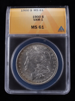 1900 Morgan Silver Dollar, VAM-1 (ANACS MS61) at PristineAuction.com