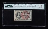 1863 10¢ Ten Cents United States Fractional Bank Note (Fr #1261) (Fourth Issue) (PMG 63) at PristineAuction.com
