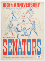 1959 Original Senators 100th Anniversary Game Program Signed by (6) With Russ Kemmerer, Hal Griggs, Tex Clevenger, Bobby Allison, Dizzy Dean (JSA LOA) at PristineAuction.com
