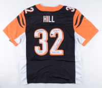 """Jeremy Hill Signed Bengals Jersey Inscribed """"215 REC Yds, 5 100 Yd Games, 9 TDs, 1124 Rush Yds"""" (Beckett COA) at PristineAuction.com"""