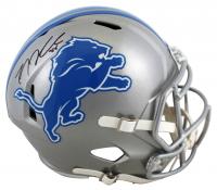 T. J. Hockenson Signed Lions Full-Size Speed Helmet (Beckett Hologram) at PristineAuction.com