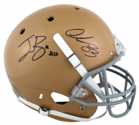 Ian Book & Chase Claypool Signed Notre Dame Fighting Irish Full-Size Helmet (Beckett COA) at PristineAuction.com