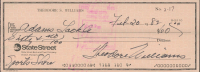"""Theodore """"Ted"""" Williams Signed Hand-Written 1982 Personal Bank Check (Beckett LOA & Ted Williams COA) at PristineAuction.com"""