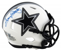 Tony Dorsett Signed Cowboys Lunar Eclipse Alternate Speed Mini-Helmet (Beckett Hologram) at PristineAuction.com
