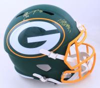 Davante Adams & Aaron Rodgers Signed Packers Full-Size AMP Alternate Speed Helmet (JSA COA & Steiner Hologram) (See Description) at PristineAuction.com