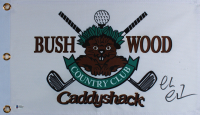"""Chevy Chase Signed """"Caddyshack"""" Bushwood Country Club Pin Flag (Beckett COA) (See Description) at PristineAuction.com"""