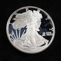 1 Troy oz .999 Walking Liberty Sunshine Minting Bullion Round at PristineAuction.com