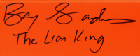 """Barry Sanders Signed Full-Size Pylon Inscribed """"The Lion King"""" (Schwartz COA) at PristineAuction.com"""