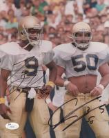 Chris Zorich & Tony Rice Signed Notre Dame Fighting Irish 8x10 Photo (JSA COA) at PristineAuction.com