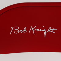 Bobby Knight Signed Red Metal Folding Chair (Schwartz Hologram) at PristineAuction.com
