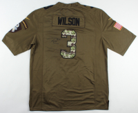 """Russell Wilson Signed Seahawks """"Salute to Service"""" Jersey (JSA COA) (See Description) at PristineAuction.com"""