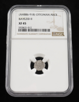 Bayezid II, (AH886-918) Ottoman Akce Medieval Silver Coin (NGC XF45) at PristineAuction.com
