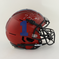 Emmanuel Sanders Signed Youth Full-Size Authentic On-Field F7 Helmet (Beckett Hologram) at PristineAuction.com