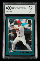 Albert Pujols 2001 Topps Traded #T247 RC (BCCG 10) at PristineAuction.com