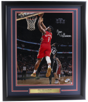 Zion Williamson Signed Pelicans 22x27 Custom Framed Photo Display (Fanatics Hologram & Beckett Hologram) at PristineAuction.com