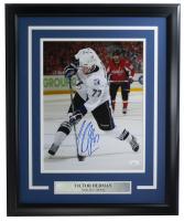 Victor Hedman Signed Lightning 16x20 Custom Framed Photo Display (JSA COA) at PristineAuction.com