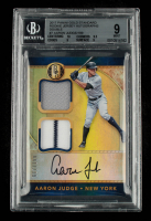 Aaron Judge 2017 Panini Gold Standard Rookie Jersey Autographs Double #017/199 (BGS 10) at PristineAuction.com
