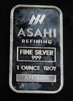 1 Oz .999 Fine Silver Asahi Refining Bullion Bar at PristineAuction.com