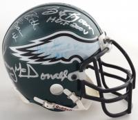 Eagles Mini Helmet Signed By (11) Cris Carter, Mike Ditka, Pete Pihos, Chuck Bednarik, Bob Brown, & Steve Van Buren (Beckett LOA) at PristineAuction.com