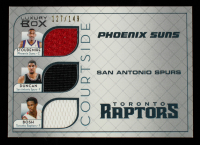 Amare Stoudemire / Tim Duncan / Chris Bosh 2007-08 Topps Luxury Box Courtside Triple Relics #SDB #127/149 at PristineAuction.com