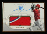 Shohei Ohtani 2020 Topps Definitive Collection Framed Autograph Patches #FACSO #04/10 at PristineAuction.com