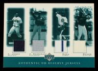2001 UD Reserve Game Jersey Quads #JRSB Andruw Jones / Alex Rodriguez / Sammy Sosa / Barry Bonds at PristineAuction.com