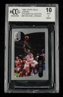 Michael Jordan 1998 Upper Deck MJ Sticker Collection #62 (BCCG 10) at PristineAuction.com