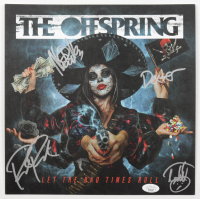 """The Offspring """"Let The Bad Times Roll"""" Album Insert Signed By (4) Dexter Holland, Noodles, Pete Parada, & Todd Morse (JSA COA) at PristineAuction.com"""