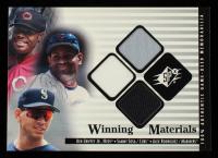 Ken Griffey Jr. / Sammy Sosa / Alex Rodriguez 2000 SPx Winning Materials Update #GSR Jerseys at PristineAuction.com