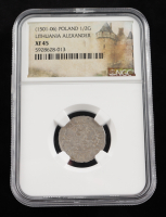 Alexander I (1501-1506) Lithuania 1/2 Groschen Medieval Silver Coin (NGC XF45) at PristineAuction.com
