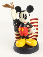 """Mickey Mouse Saluting American Flag - 14"""" """"Big Fig"""" Large Figure from Disney Parks at PristineAuction.com"""