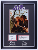 Ozzy Osbourne & Tony Iommi Signed Black Sabbath 15x20 Custom Framed Cut Display (JSA COA) at PristineAuction.com