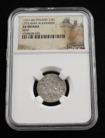 Alexander I (1501-1506) Lithuania 1/2 Groschen Medieval Silver Coin (NGC AU Details) at PristineAuction.com