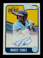 Wander Franco 2020 Onyx Vintage Extended Autographs Blue Ink #EAWF at PristineAuction.com