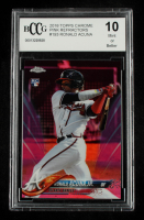 Ronald Acuna 2018 Topps Chrome Pink Refractors #193 (BCCG 10) at PristineAuction.com