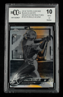 Ronald Acuna 2018 Topps Chrome Black and White Negative Refractors #193 (BCCG 10) at PristineAuction.com