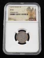 1677D France Silver Four Sols Silver Coin (NGC VF35) at PristineAuction.com