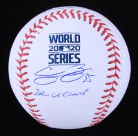 "Cody Bellinger Signed 2020 World Series Baseball Inscribed ""2020 WS Champ"" (MLB Hologram) at PristineAuction.com"