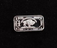 1 Gram .999 Fine Silver Buffalo Bullion Bar at PristineAuction.com