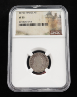 1675D France Silver Four Sols Silver Coin (NGC VF25) at PristineAuction.com