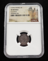 1779A France Silver Six Sols Silver Coin (NGC XF Details) at PristineAuction.com