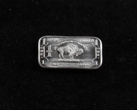 1 Gram .999 Fine Iron Buffalo Bullion Bar at PristineAuction.com
