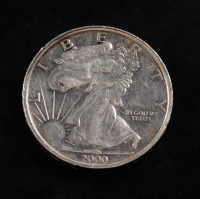 1 Troy oz .999 Silver Walking Liberty Bullion Round at PristineAuction.com