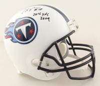 "Chris Johnson Signed Titans Full-Size Helmet Inscribed ""2006 Yds 2009""(Schwartz COA) at PristineAuction.com"