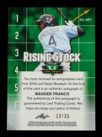Wander Franco 2018 Leaf Valiant Rising Stock Orange #RSWF1 #13/35 at PristineAuction.com